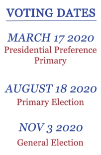 2020 Voting Dates
